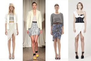 С чем носить юбку-тюльпан?