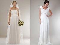 Как подобрать свадебное платье для беременной женщины?